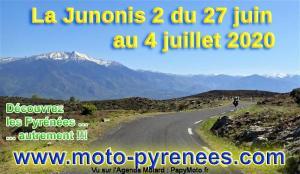 Moto-Pyrénées : La Junonis 2: du 27 juin au 4 juillet 2020 - France - Espagne - Andorre @ Pyrénées (France, Espagne, Andorre) | France
