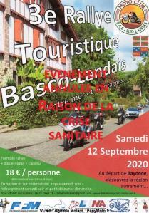 Rallye Touristique  Basco-Landais - Bayonne (64)----ANNULE---- @ BAYONNE