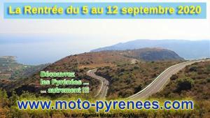 Moto-Pyrénées :Les Balades de la Rentrée : du 5 au 12 septembre2020 @ Pyrénées