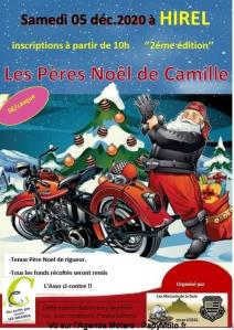 Les Pères Noël de Camille - Les Motards de la Baie - Hirel (35) @ Hirel (35)