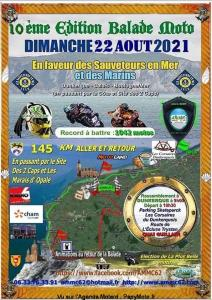 10e Edition Balade moto en faveur des sauveteurs en mer – Dunkerque – Calais – Boulogne sur mer (62) @ Dunkerque – Calais – Boulogne sur mer (62)