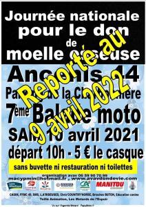 Balade Moto Pour le don de Moelle Osseuse – Ancenis (44)----ANNULE--- @ Ancenis (44)