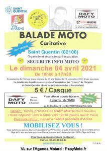 Balade moto caritative - Saint Quentin (02) @ Saint Quentin (02)