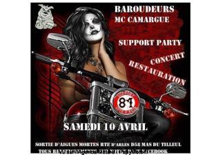 Support Party - Baroudeurs MC Camargue - Aigues-Mortes (30) @ Aigues-Mortes (30)