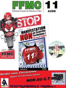 Manifestation NON au contrôle Technique - FFMC 11 - Carcassonne (11) @ Carcassonne (11)