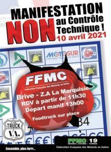 Manifestation NON au contrôle Technique - FFMC 19 - Brive (19) @ Brive (19)