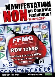 Manifestation NON au contrôle Technique - FFMC 37 - Tours (37) @ Tours (37)