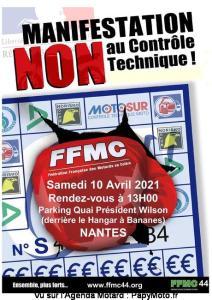 Manifestation NON au contrôle Technique - FFMC 44 - Nantes (44) @ Nantes (44)