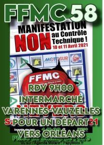 Manifestation NON au contrôle Technique - FFMC 58 - Varennes-Vauzelles (58) @ Varennes-Vauzelles (58)