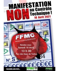 Manifestation NON au contrôle Technique - FFMC 65 - Tarbes (65) @ Tarbes (65)