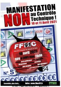 Manifestation NON au contrôle Technique - FFMC 91 - Evry (91) @ Evry (91)