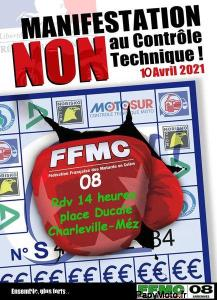 Manifestation NON au contrôle technique - FFMC 08 - Charleville-Mézières (08) @ Charleville-Mézières (08) (45)