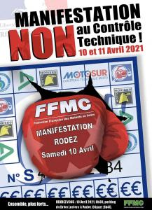 Manifestation NON au contrôle technique - FFMC 12 - Rodez (12) @ Rodez (12)