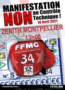Manifestation NON au contrôle technique - FFMC 34 - Montpellier (34) @ Montpellier (34)