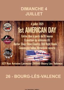 1st Américan Day - Bourg-lès-Valence (26) @ Bourg-lès-Valence (26)