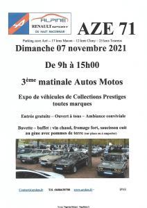 3e matinale Autos Motos - Azé (71) @ Azé (71)