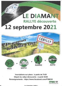 Le Diamant Rallye découverte - Cérilly (03) @ Céfilly (03)