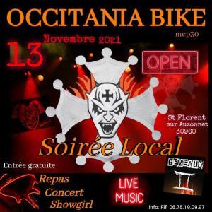 Soirée Local - Occitania Bike - Saint Florent sur Auzonnet (30) @ Saint Florent sur Auzonnet (30)