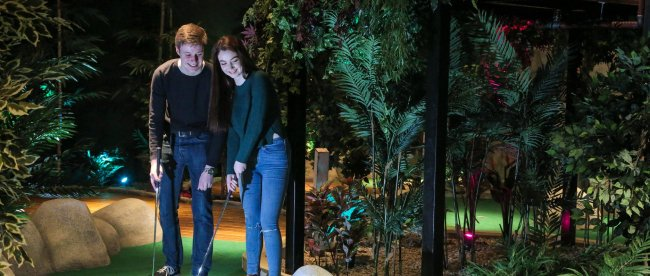 Bad weather guaranteed at new adventure golf course