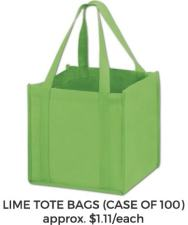 Golf Gift Bag Lime Green Tote