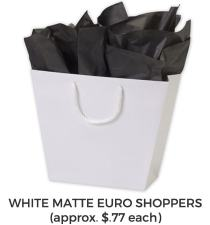Golf Gift Bag White Matte Shopper
