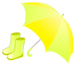 長靴と傘 JPEG
