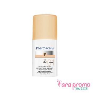 Pharmaceris Fluid Fondation Fond de teint intence coverage SPF20