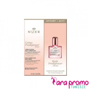 NUXE Coffret Crème Prodigieuse Boost Multi-Correction 40ML + Huile Prodigieuse Florale 10ML OFFERTE