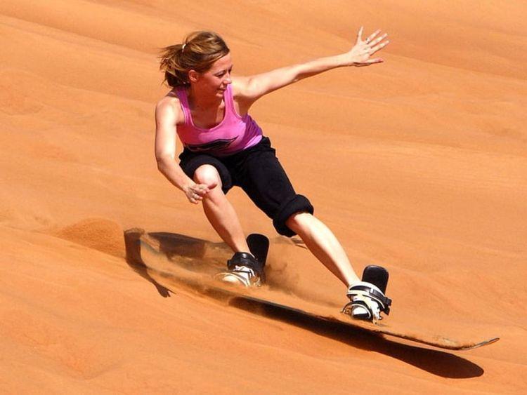 Downhill sandboarding