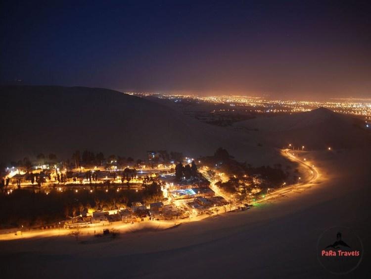 Huacachina and Ica during night