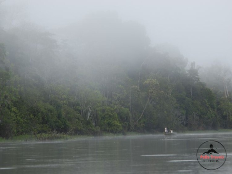 Iquitos Amazon misty river