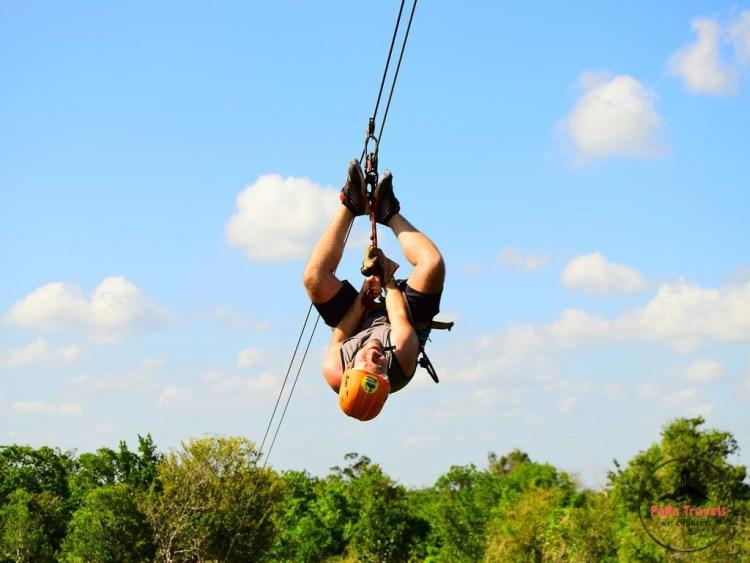 Jungle trail ziplining