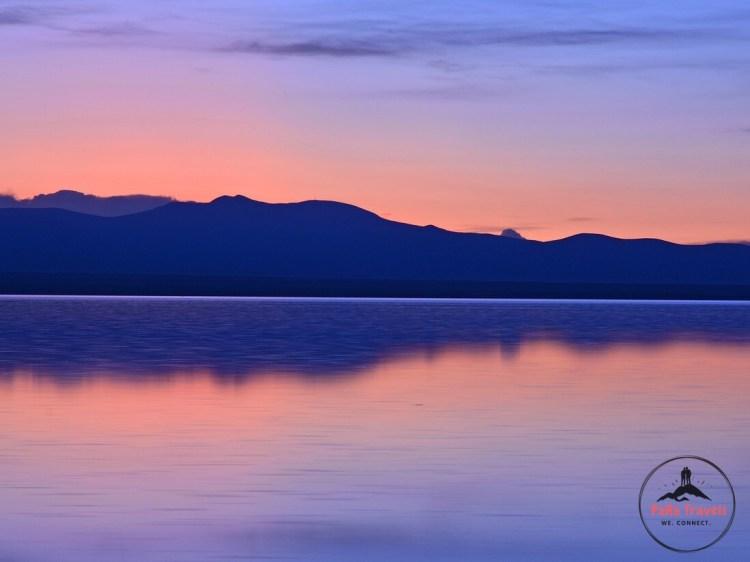 Sunset at Uyuni Salt Flats