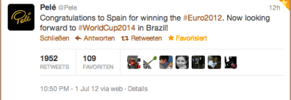 Tweet von Pelé