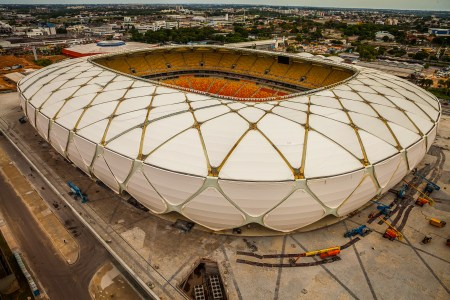 Totale des WM-Stadions in Manaus