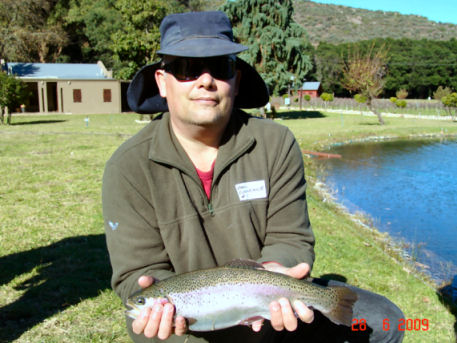 Paul Cochrane with a 1.2 Kg fish taken during the competition.
