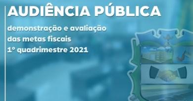 Assista à audiência Pública do 1º quadrimestre de 2021
