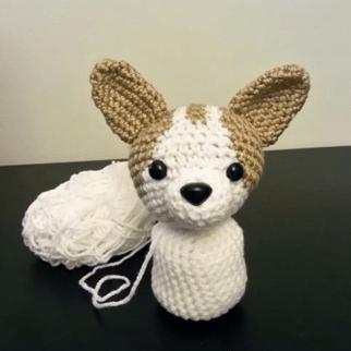 Aprende a hacer un peluche tejido de chihuahua cuerpo
