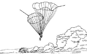 24-FOOT DIAMETER TROOP CHEST RESERVE (T-10R) PARACHUTE AND