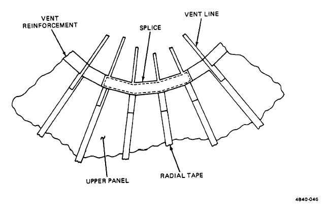 Figure 2-44. Vent Reinforcement Splicing Details