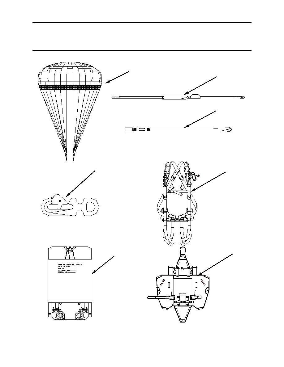 MC-6 PERSONNEL PARACHUTE SYSTEM REPAIR PARTS LIST