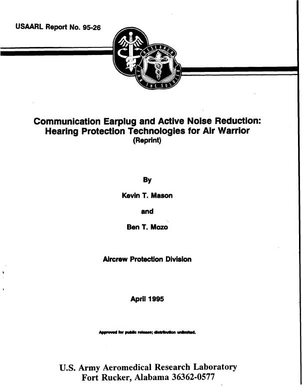 95-26-USAARL-Tech Report