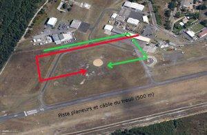 Les circuits main-droite en vert et main-gauche en rouge.