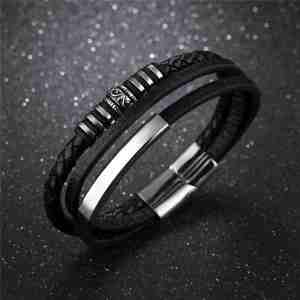 Leather Bracelet Multi Band