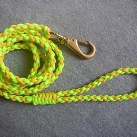 Neon Yellow and Green Paracord Leash