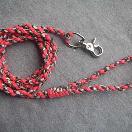 Neon Pink and Siberian White Camo Paracord Leash