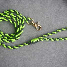 Neon Green And Black Paracord Leash