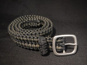 Black and OD Green Paracord Belt