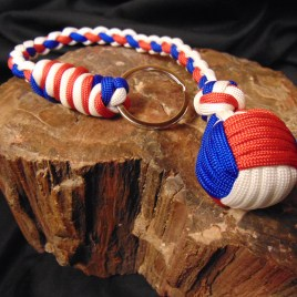 Red, White and Blue Paracord Monkey Fist