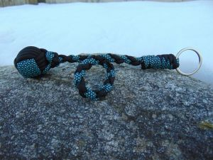 Turquoise and Black Monkey Fist